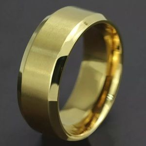 Other - Gold Titanium Stainless Steel Men's Band Ring sz 9